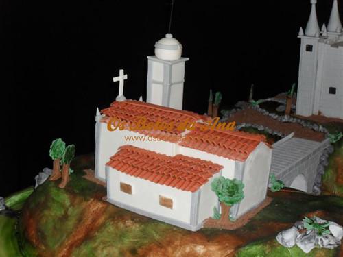 Bolo de Noiva Decorado - Igreja