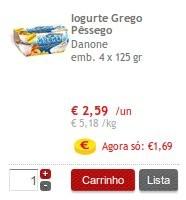 Acumulação Iogurtes | CONTINENTE | Danone Grego