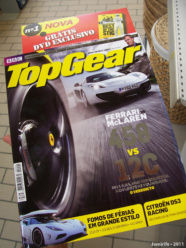 Nova revista TOP GEAR em Portugal