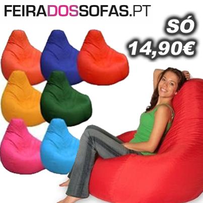 Promo o feira dos sof s puffs pera a 14 90 radar for Sofa exterior aki