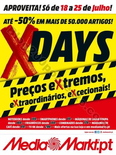 x-days MEDIA MARKT Promoções de 18 a 25 julho p1