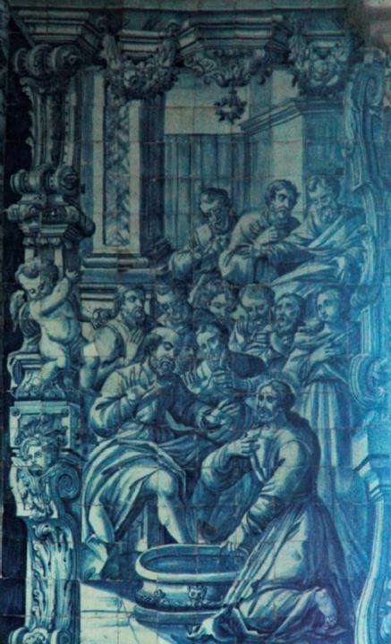 Painel de azulejos, O lava-pés. Op. cit. Pg. iii.