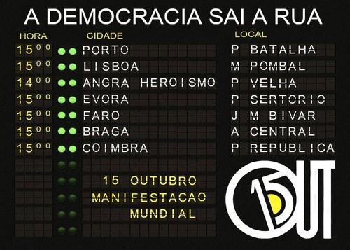 Manifestações a 15 de Outubro