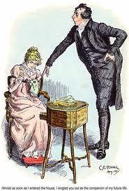 Mr Collins e Elizabeth Bennet: o pedido de casamento