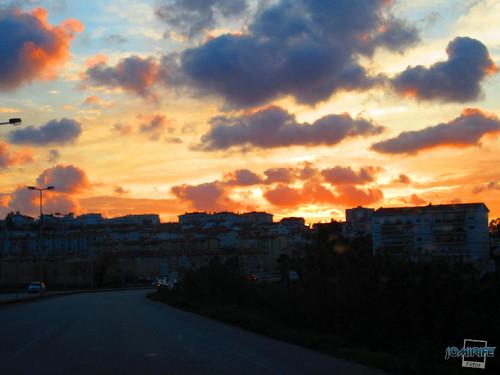 Pôr-do-sol na Figueira da Foz - Céu em fogo