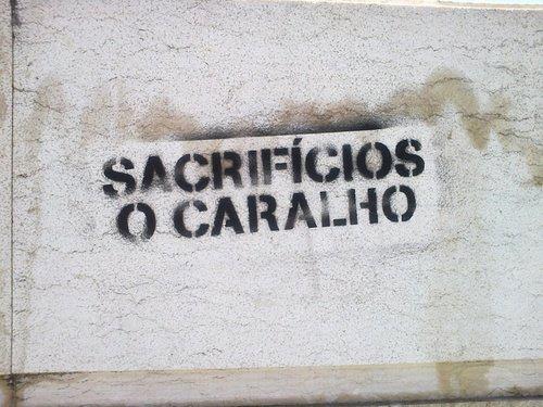 Sacrifícios o ca.....