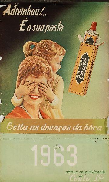 Calendário da Pasta Medicinal Couto, 1963 (Leilões BestNet)