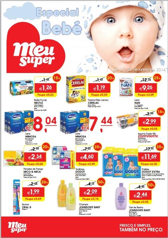 Folheto   MEU SUPER   Especial Bebé, de 10 a 23 janeiro