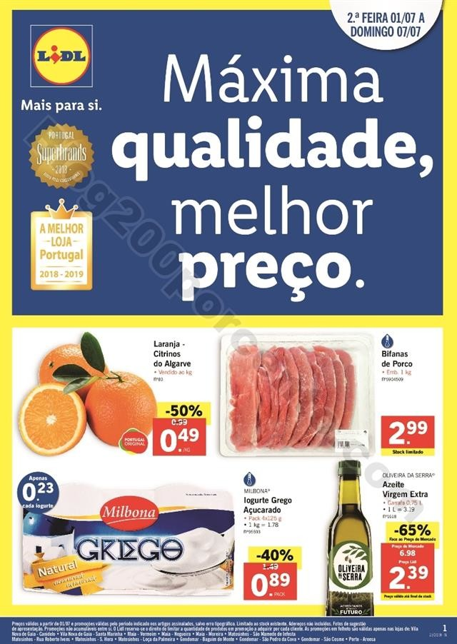 Especial LIDL Porto Promoções de  1 a 7 julho_00