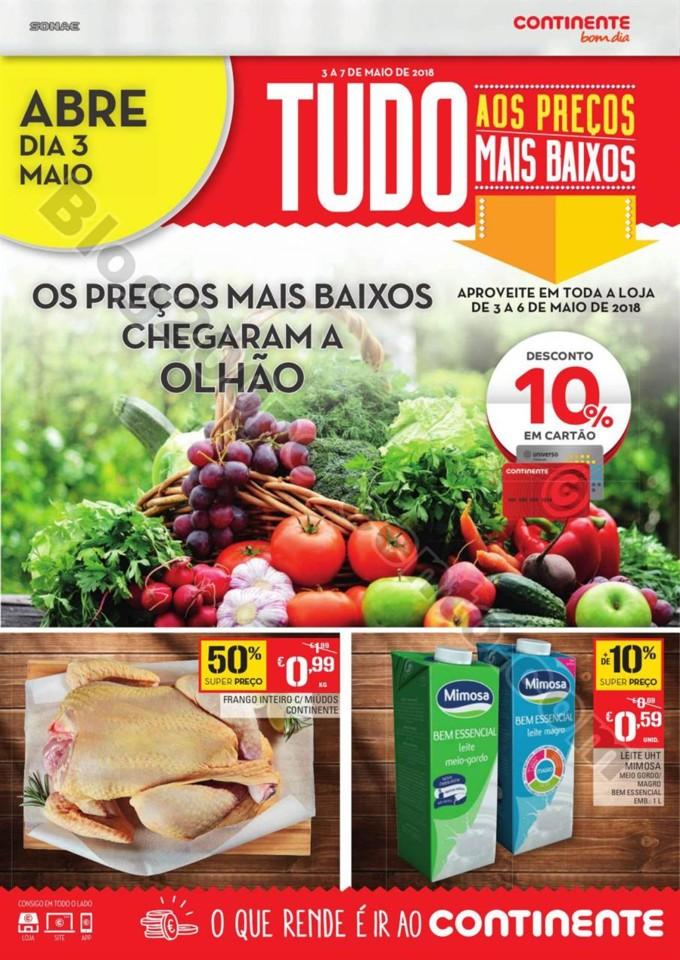 Antevisão Folheto CONTINENTE Aberturas - Olhão p
