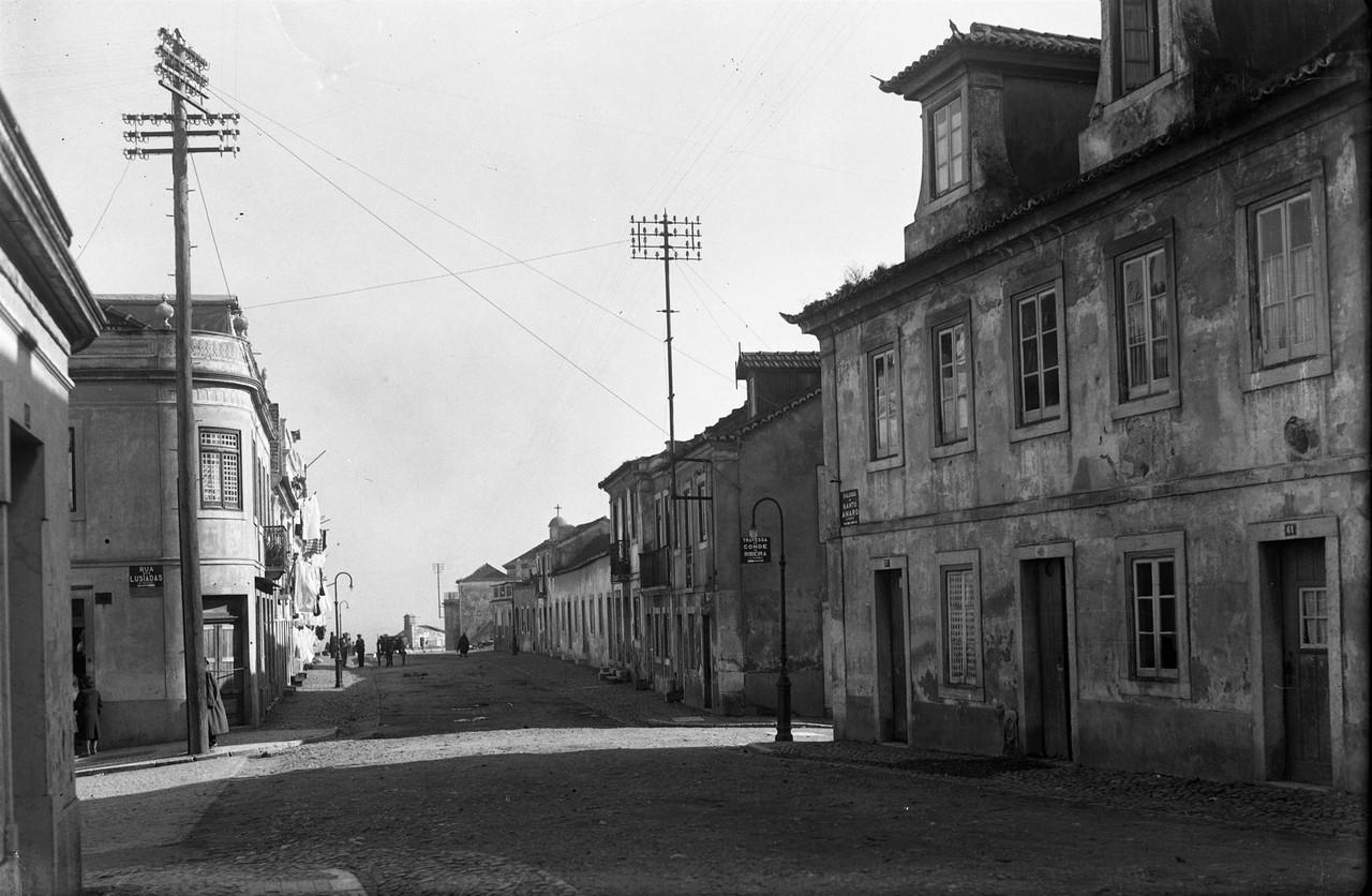 Calçada de Santo Amaro e rua dos Lusíadas, 1944,