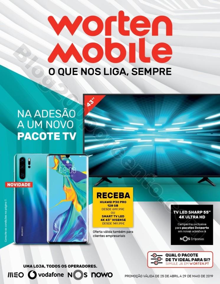 Antevisão Folheto WORTEN Mobile Promoções de 25