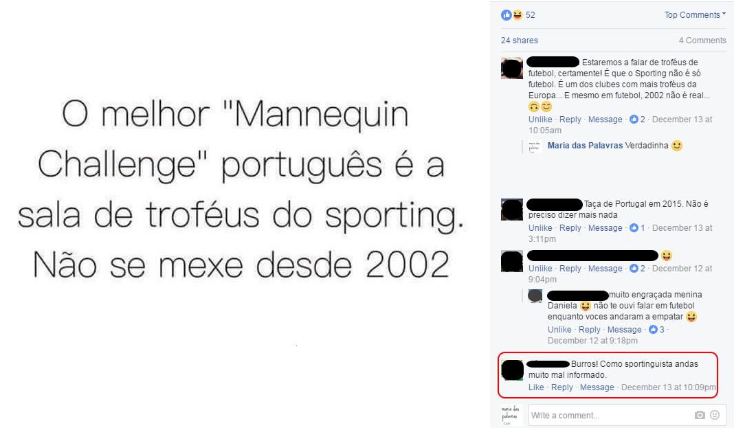 Mannequin Challenge | Facebook Maria das Palavras