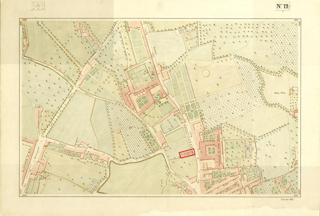 Atlas da carta topográfica de Lisboa n.º 19, 185