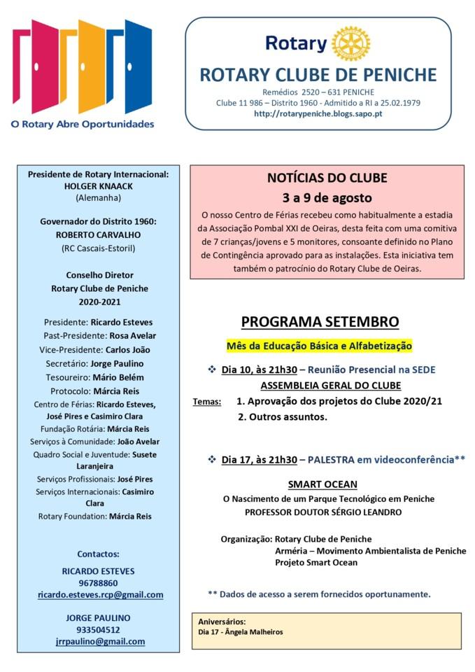 Programa de setembro do Rotary Clube de Peniche_pa