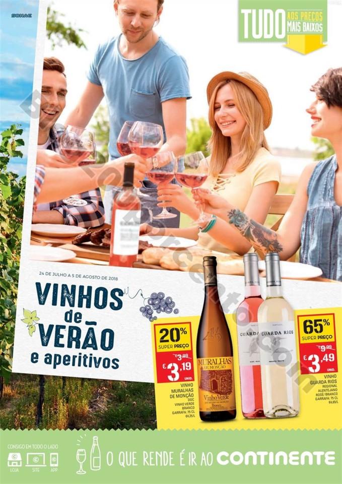 Antevisão Folheto CONTINENTE Vinhos Promoções d