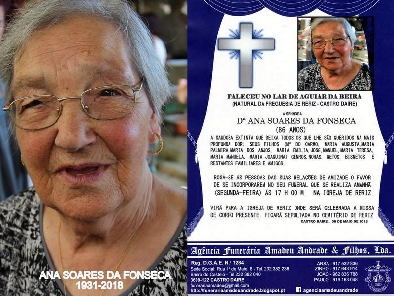 FOTO RIP-DE ANA SOARES DA FONSECA-86 ANOS (RERIZ)