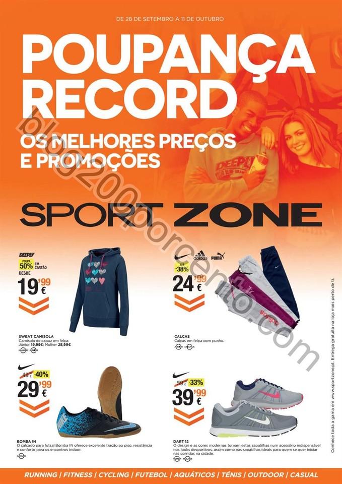 Antevisão Folheto SPORT ZONE Promoções de 28 se