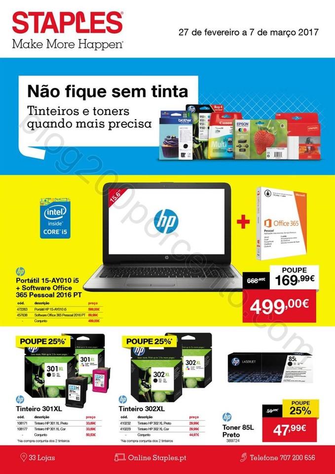 Antevisão Folheto STAPLES Promoções de 27 fever