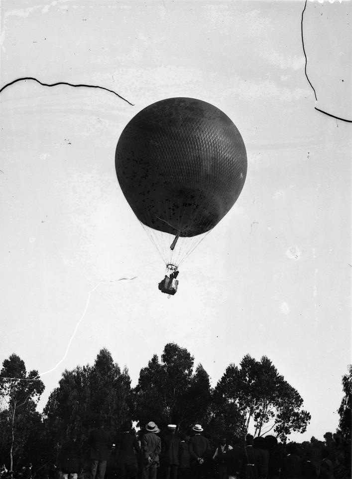 Ascensão do balão Naciona, foto de Alexandre Cun
