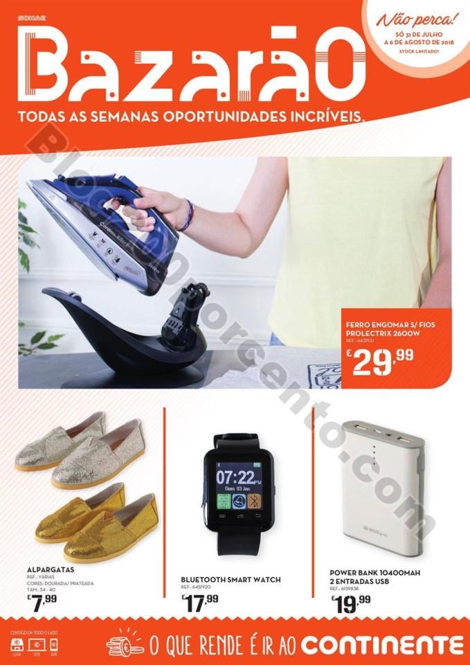 Antevisão Folheto CONTINENTE Bazarãol promoçõe
