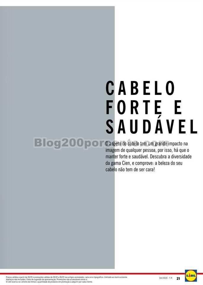 Antevisão Folheto LIDL Beleza Promoções de 20 a