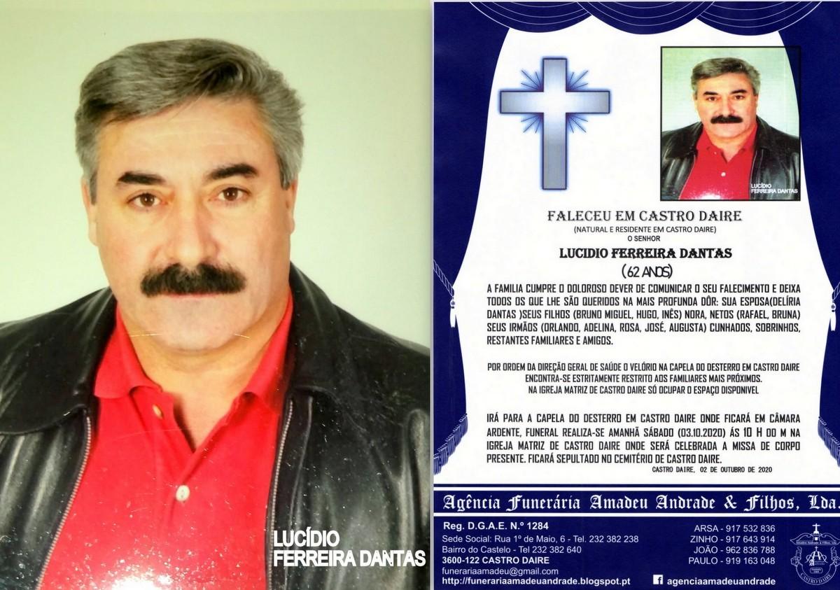 FOTO RIP DE LUCIDIO FERREIRA DANTAS -62 ANOS (CAST
