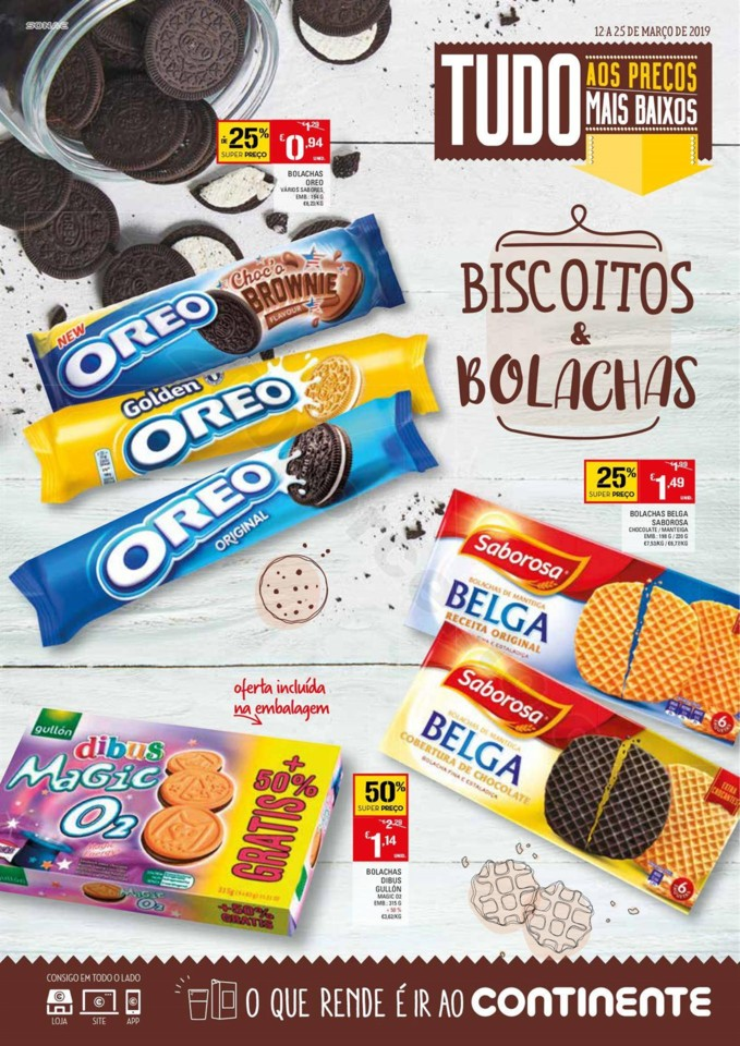 Antevisão Folheto CONTINENTE Biscoitos e Bolachas