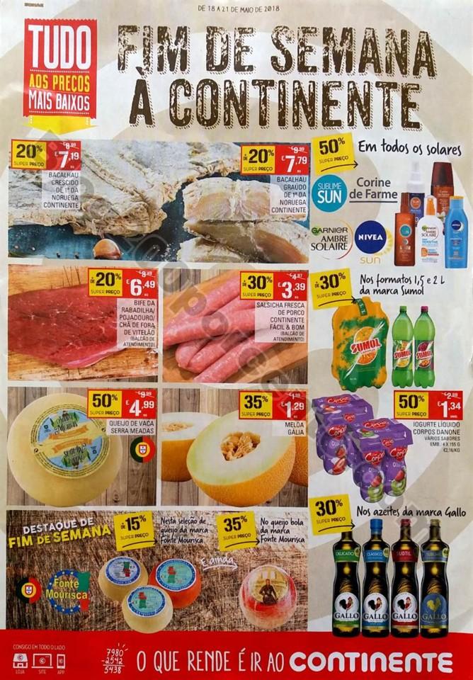 Antevisão Folheto Continente Fim Semana 18a21mai