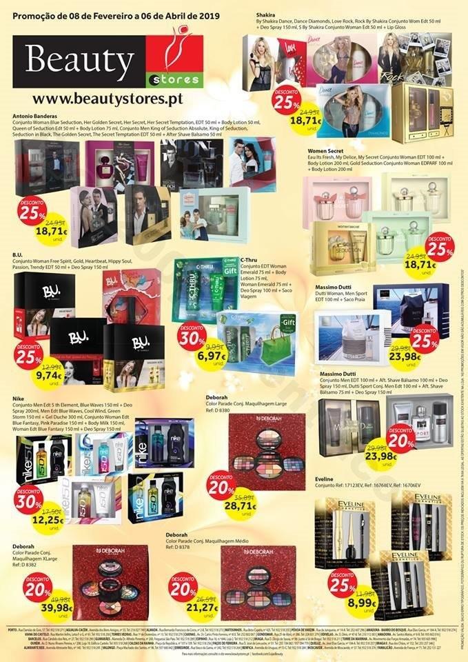 Antevisão Folheto BEAUTYSTORES Promoções de 8 f