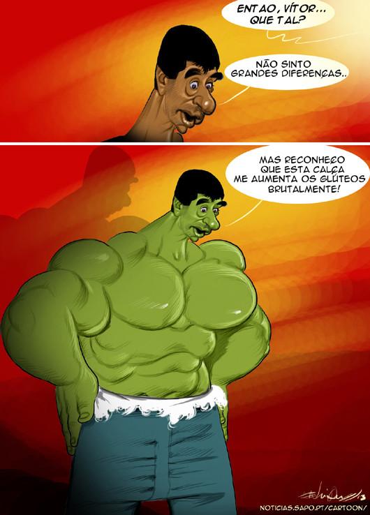 Cartoons - Vítor Gaspar com mais poderes - Hulk
