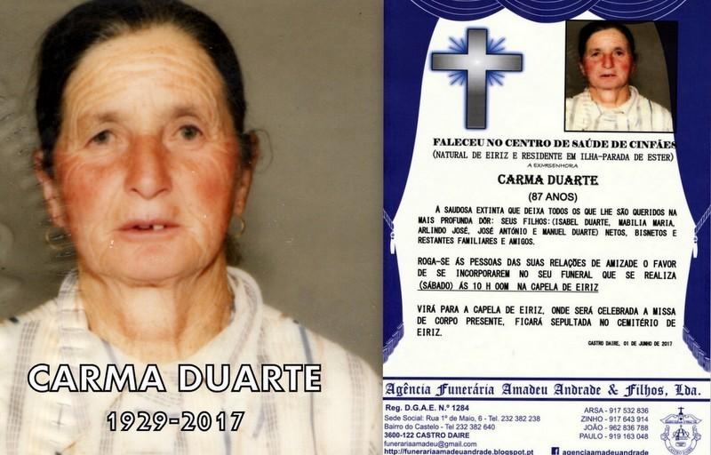 RIP-FOTO CARMA DUARTE-87 ANOS.jpg