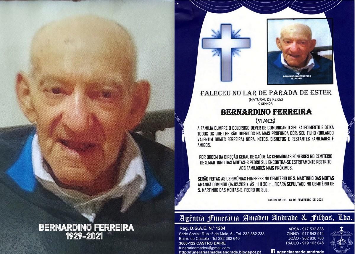 FOTO RIP  BERNARDINO FERREIRA-91 ANOS (S.jpg