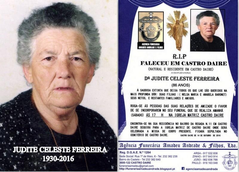 FOTO DE JUDITE CELESTE FERREIRA-86 ANOS(CASTRO DAI