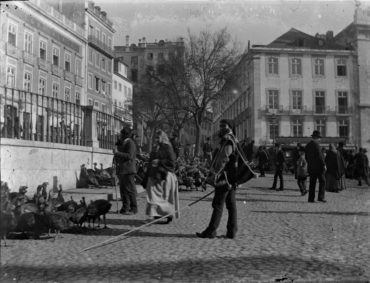 Largo de São Domingos, à esq. o Palácio a funci