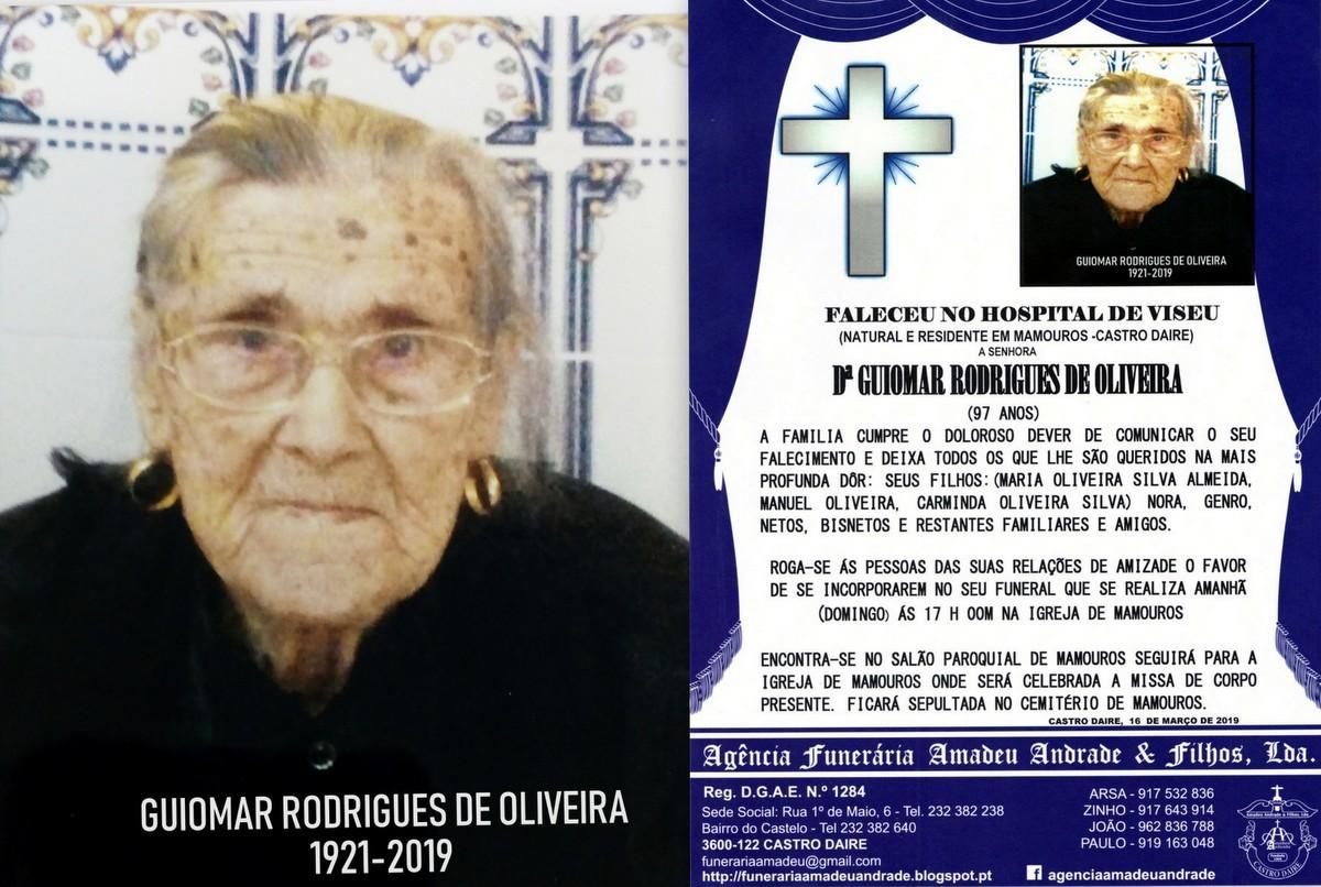 FOTO RIP  DE GUIOMAR RODRIGUES DE OLIVEIRA-97 ANOS