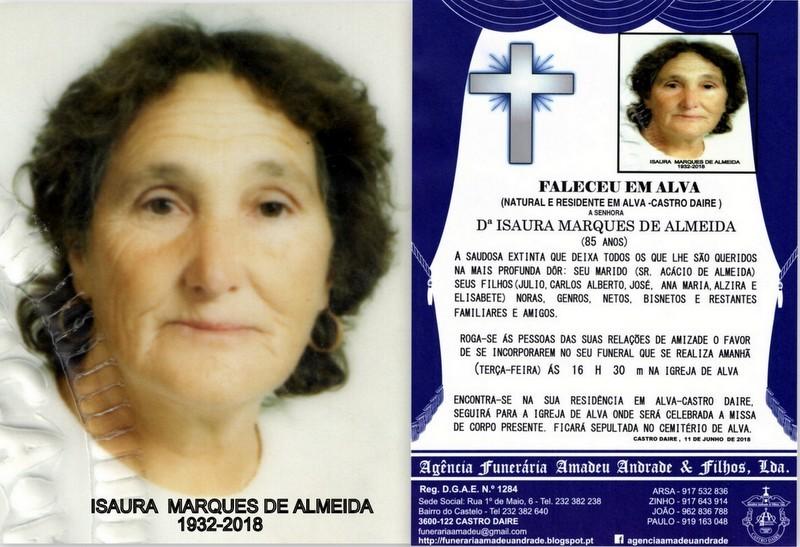 FOTO RIP DE ISAURA MARQUES DE ALMEIDA-85 ANOS (ALV