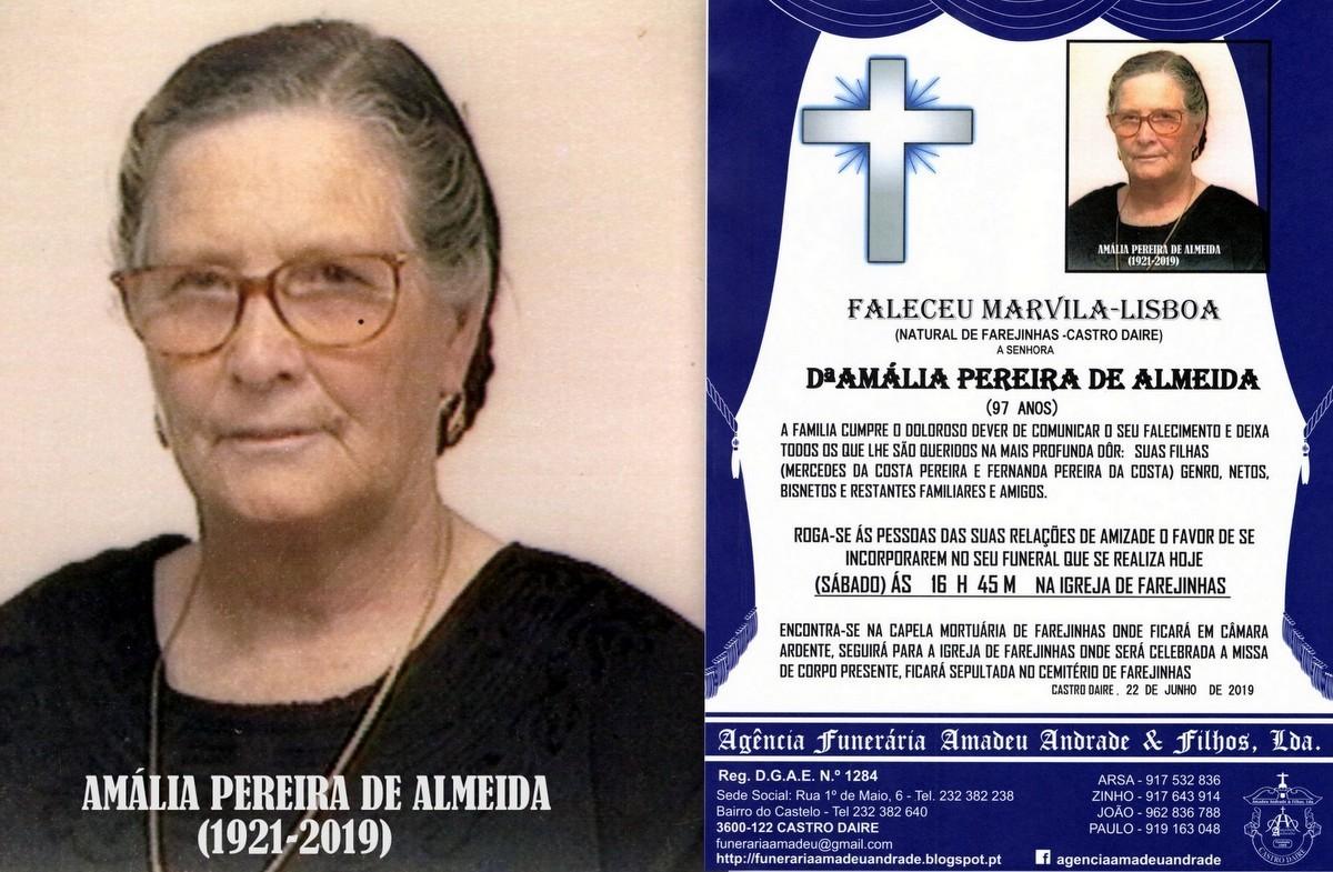 FOTO RIP  DE AMÁLIA PEREIRA DE ALMEIDA-97 ANOS (F