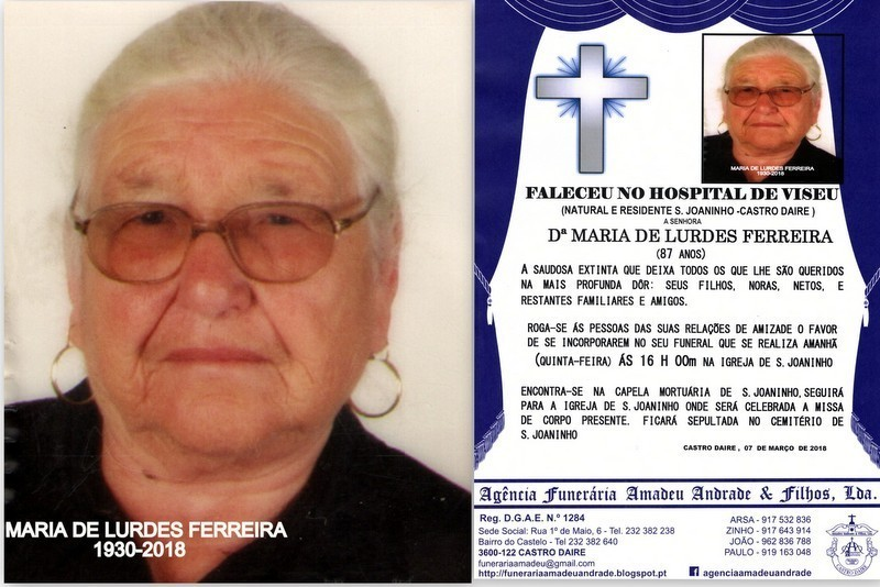 RIP2-FOTO DE MARIA DE LURDES FERREIRA-87 ANOS (S.J