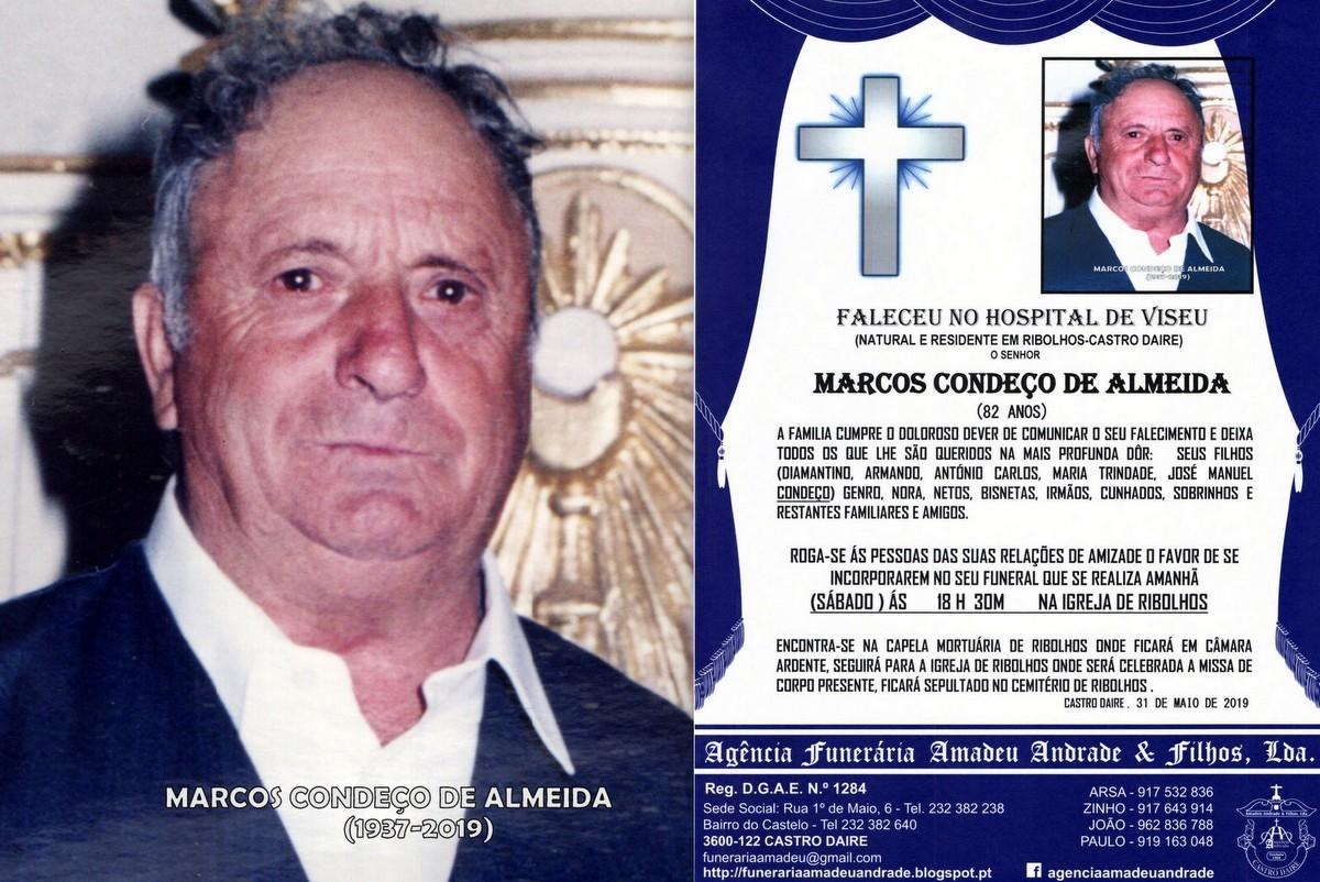 FOTO RIP- DE MARCOS CONDEÇO DE ALMEIDA-82 ANOS (R