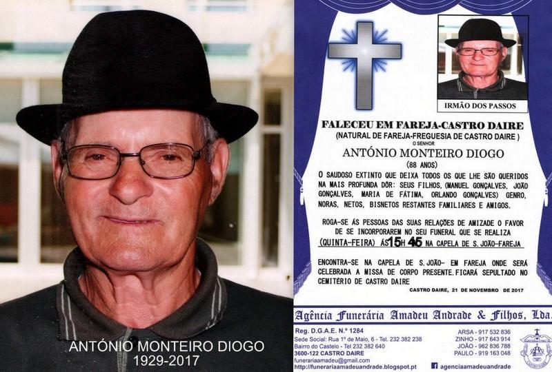 FOTO RIP-ANTÓNIO MONTEIRO DIOGO-88 ANOS (FAREJA).