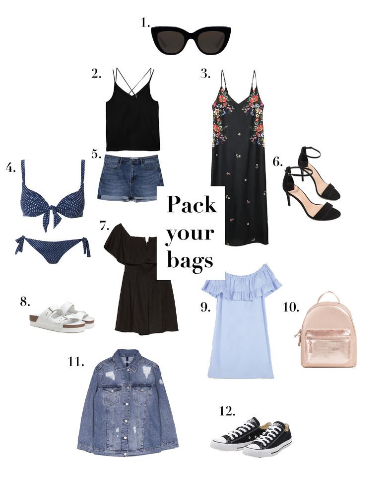 pack your bag, ina the blog, ina, shopping time, bershka, stradivarius, blogger, parfois