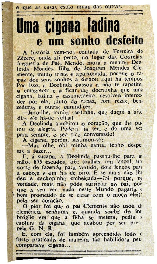«Uma cigana ladina…», Diario de Lisbôa, 3/IX/1948