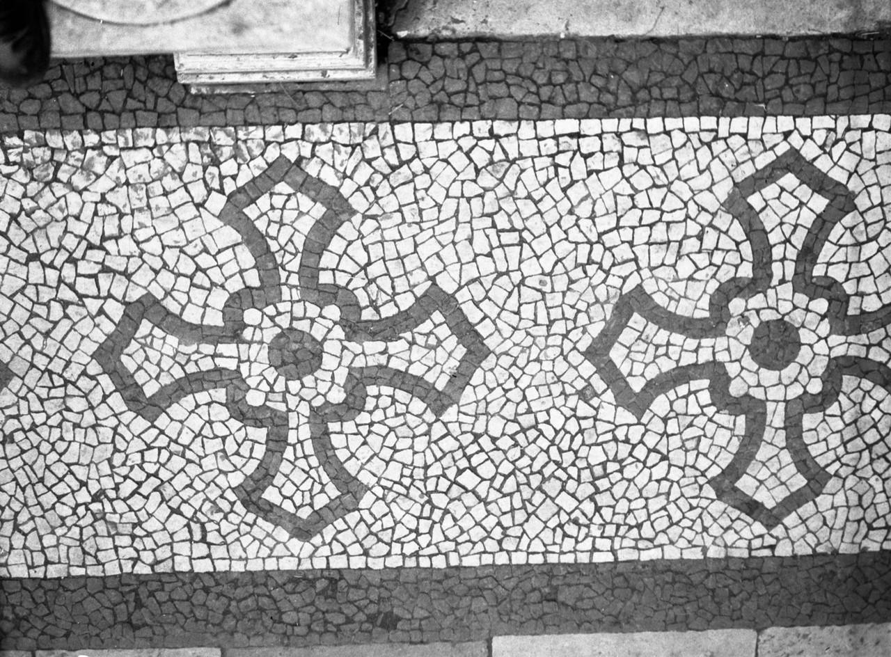 Calçada portuguesa, Largo S. Domingos, 1940, foto