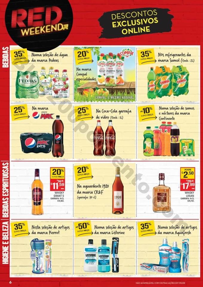 Antevisão Folheto CONTINENTE Red weekend 21 a 23