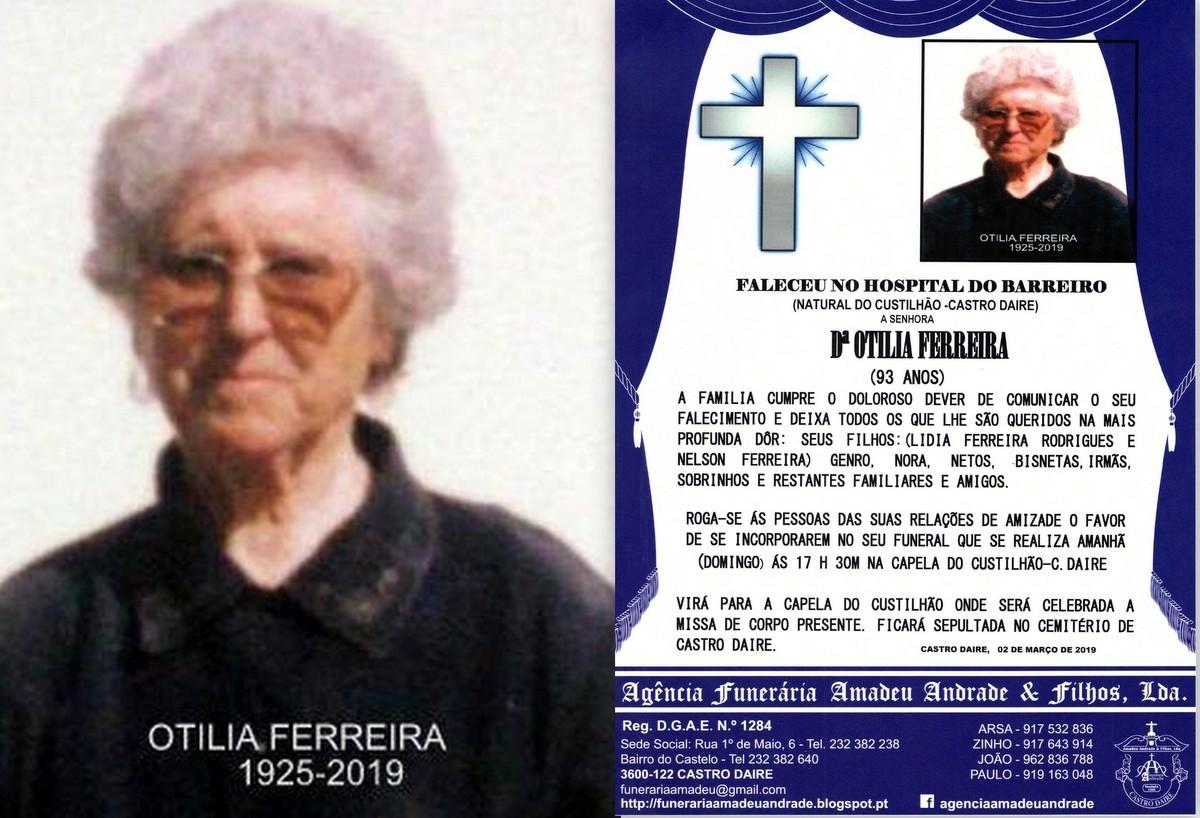 RIP FOTO -OTILIA FERREIRA-93 ANOS (CUSTILHÃO-CAST