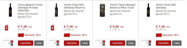 50% em Vinhos | CONTINENTE | avistados no site