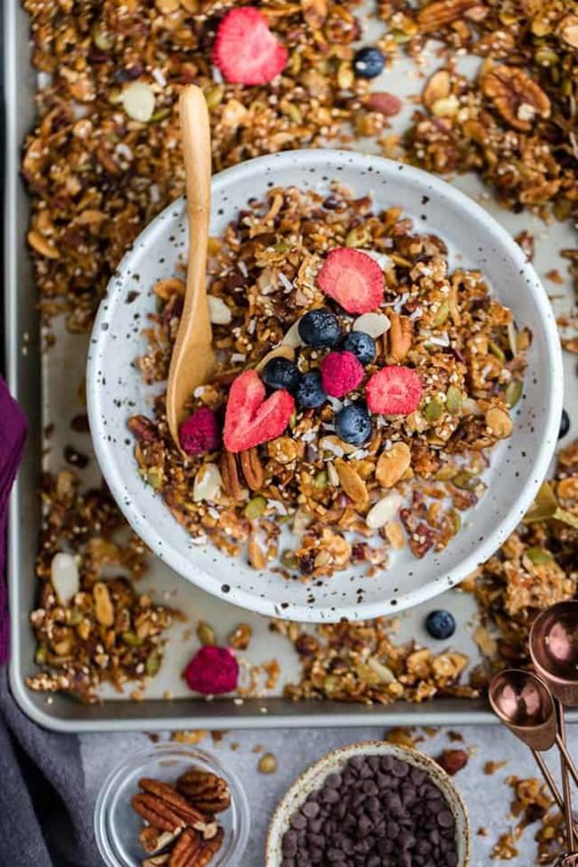 Healthy-Granola-Sugar-Free-Recipe-Photo-Grain-Free