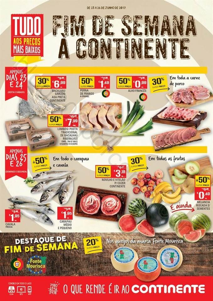 ANtevisão Folheto CONTINENTE Fim de semana de 23
