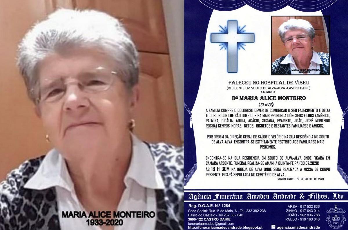 FOTO RIP DE MARIA ALICE MONTEIRO-87 ANOS (SOUTO DE